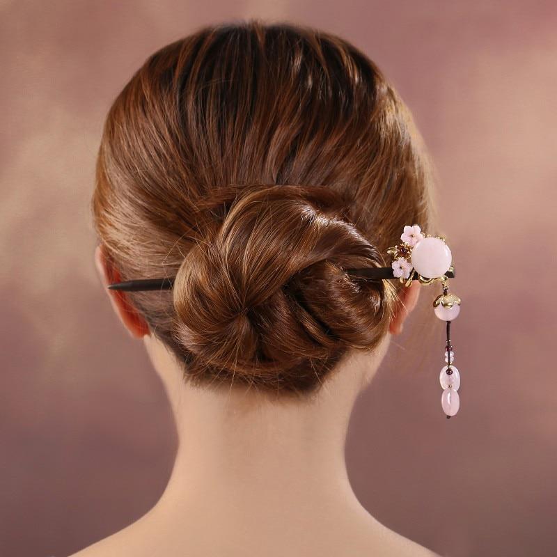Hair Sticks Hair Jewelry Vintage Colorful Enamel Wedding Bride Retro Hair Accessories Bridal Hairwear Flower Stone