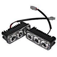 1 Pair Car Styling Daytime Running Lights Car DRL DC 12V 6 LED Bulbs Auto Fog