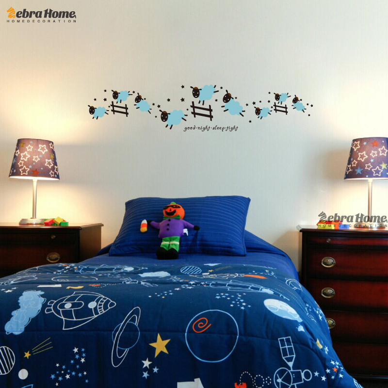 Aliexpresscom Buy Jumping Sheep Wall Sticker Good Night Sleep - Bedroom colors for good night sleep