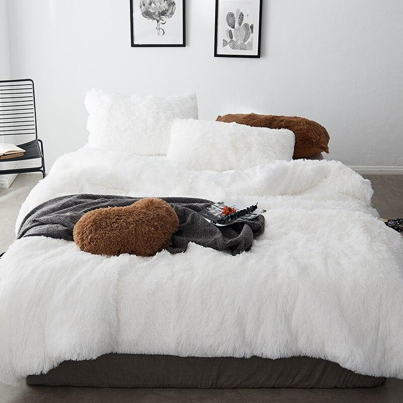 New Mink Velvet Bedding Sets Red Blue Pink Bed Set Queen King Twin Size Bed Cover Set Fit Sheet Set Pillowcase 1/4pcs
