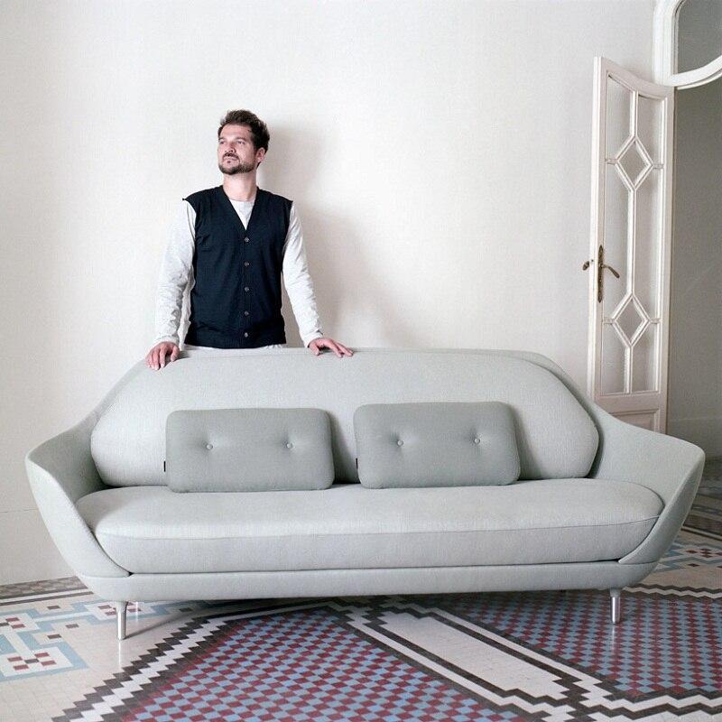 U-BEST tissu coloré coussin bras Favn canapé avec jambe en métal, réplique salon moderne canapé tissu couverture Favn canapé
