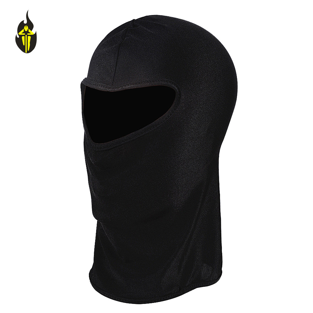 WOLFBIKE Thin Ski CS Face Mask Hood Helmet Balaclava Hat Headwear Great For Cycling Motor Bike Football Black Anti UV Quick Dry