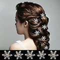 4 pcs Princess Alloy & Rhinestone  Flower Pearl Hair Clips Hairpin for Women Bride Wedding Hair Accessories HDR0022