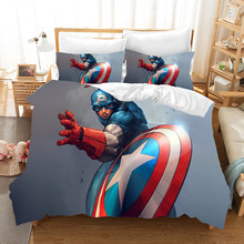 The Avengers iron Man 3d bedding set Duvet Covers Captain America Spiderman Thor Pillowcases comforter bedding sets bed linen(China)