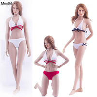 Mnotht 1/6 Female Costume Sexy Bikini Clothing Bra and Underclothes for 12in Figures Inclusion Glue Body L30