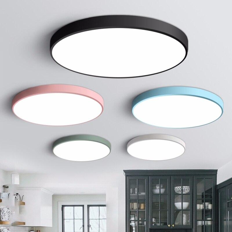 Led luz de teto luminária moderna lâmpada sala estar quarto banheiro cozinha luzes teto montagem em superfície
