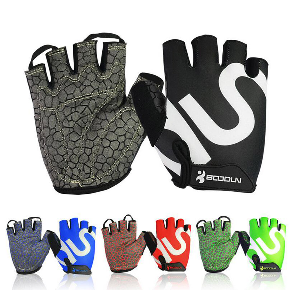 Gym Weightlifting Gloves Body Building Half Finger Fitness Gloves An-slip Sports Training Gloves ...