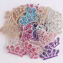 Crown-Button Headband Hair Baby-Girls Diy for Women Wedding-Party Bride Embellishment
