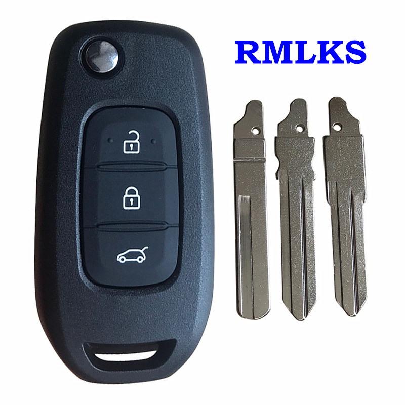 New Replacement Remote Car Key Folding Flip Remote Key Shell Case Fob 3 Buttons For Renault Kadjar Koleos 2017