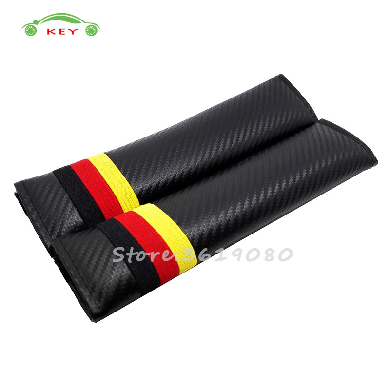 Flag of Germany Car Safety Seat Belt Cover Shoulder Pads Cushion for Audi a3 a4 Volvo Hyundai BMW f10 VW golf KIA Car Protection