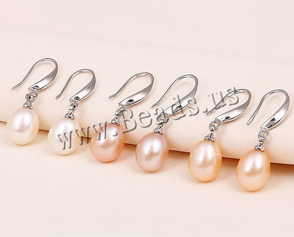 Freshwater Pearl Earrings luxury 925 Sterling Silver with mixed colors 8-9mm Sold By 2Pairs/Bag