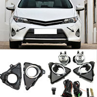 Auto Fit For Toyota Auris 2013 2015 1 Set Front Fog Lamp Cover Trim Replace