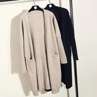 2018 autumn long knit loose long sleeved cardigans sweater women