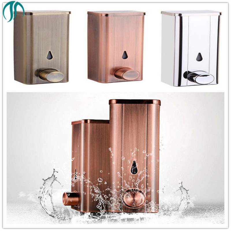 Modun Stainless Steel Bathroom Hand Soap Dispenser 304 Pump Handsanitizer Liquid Soap Dispenser Liquid Wall Soap Dispenser Gold 304 stainless steel liquid soap bottle brushed bathroom accessories bathroom hardware sets soap dispenser 200ml liquid soap box