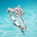 Solid 925 Sterling Silver Ring CZ Comfort Fit Design Lady's Gift