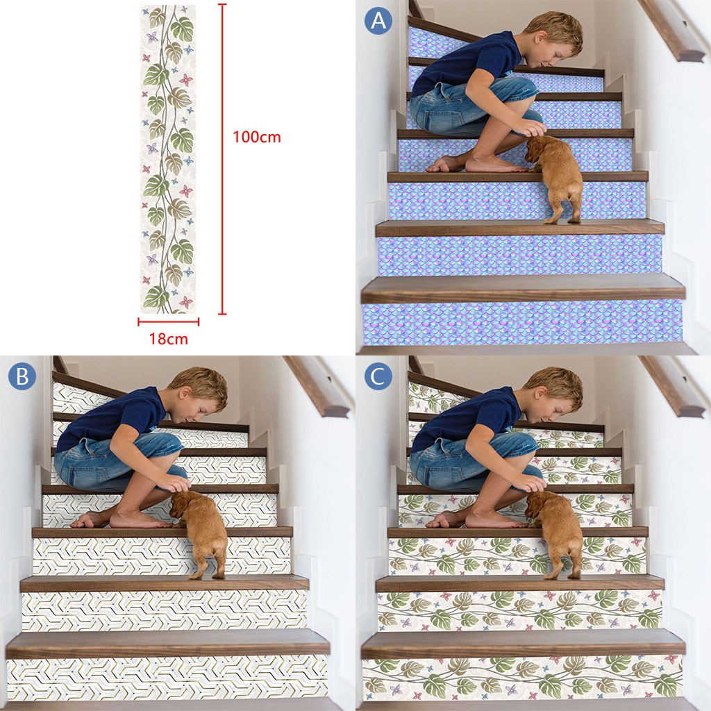 3D Simulation Stair Stickers Waterproof Wall Stickers DIY Home Decor Room Decoration vinilos decorativos para paredes New-in Wall Stickers from Home & Garden
