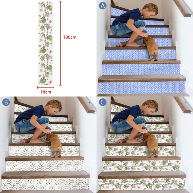 3D Simulation Stair Stickers Waterproof Wall Stickers DIY Home Decor Room Decoration vinilos decorativos para paredes New