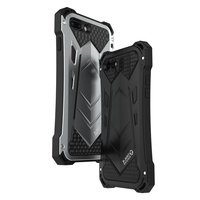 R JUST Luxury Metal Armor Outdoor Shockproof Aluminum Cover For IPhone 7 8 Plus Protection Shell