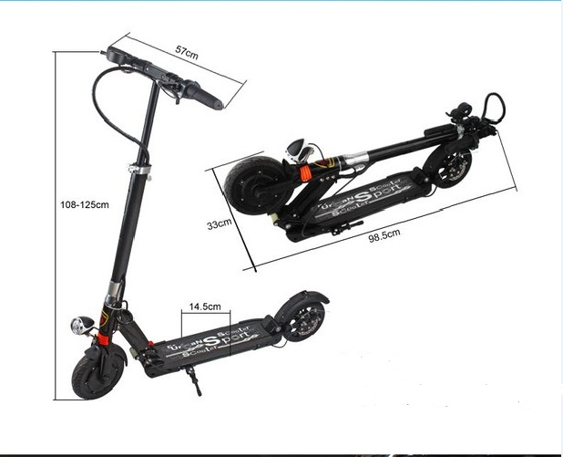 8inch Off Road <font><b>Electric</b></font> Scooter36V <font><b>350W</b></font> 30Km/h Strong powerful Foldable image