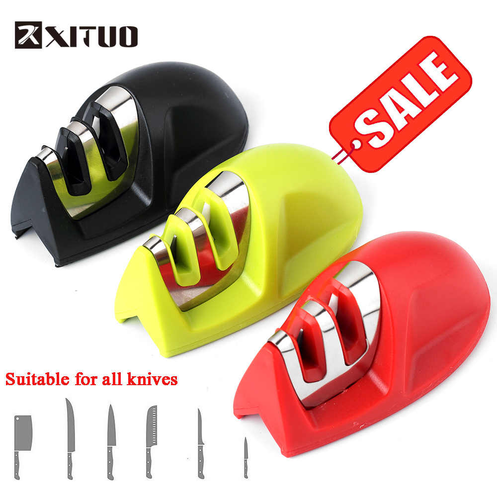 XITUO 2 Stages (Diamond & Ceramic) Beatle shape Kitchen Knife Sharpener Household Knife Sharpener Mini convenient Chef BBQ Tools