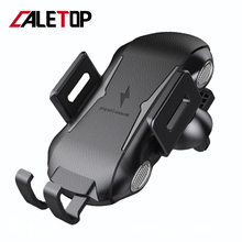 CALETOP Car Infrared Sensor Automatic Qi Fast Wireless Car Mobile Phone Charger for iPhone X XS XR 8 Plus Samsung S9 S8 Note 9 8 car phone holder auto mount qi wireless fast charger charging automatic infrared sensor for iphone x 8 plus samsung s9 s8 note 8