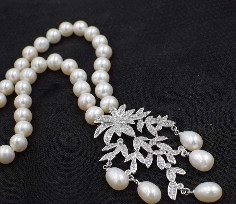 քաղցրահամ ջրերի մարգարիտ սպիտակ 9-1`0 - Նուրբ զարդեր - Լուսանկար 2