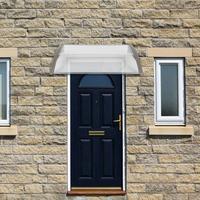 100x100cm Door & Window Eaves Rain Cover Gray Or Black Bracket Eaves Rain Awning Entrance Door Rain Canopy Household Application