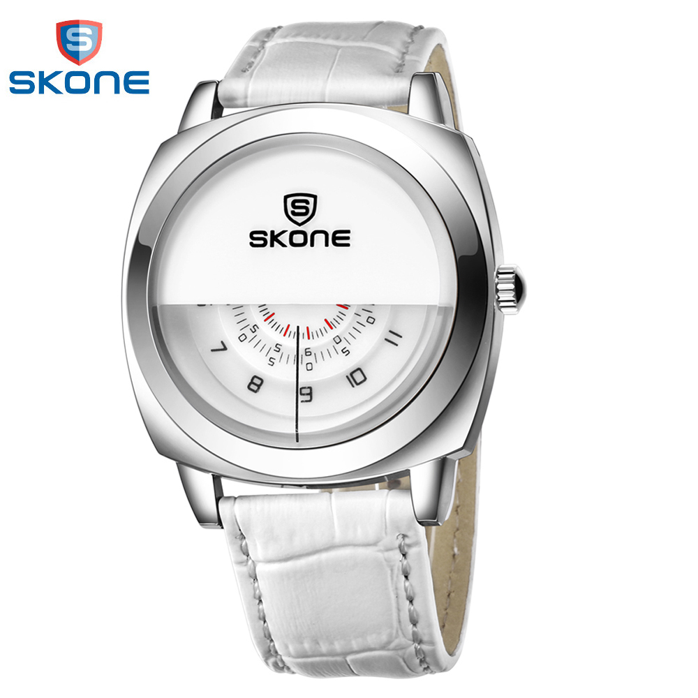 SKONE 2018 Fashion Quartz Men Watch Cool Three Dial One H/Min/S Watches PU Leather Strap Casual Wristwatch Hot Items Sale цена