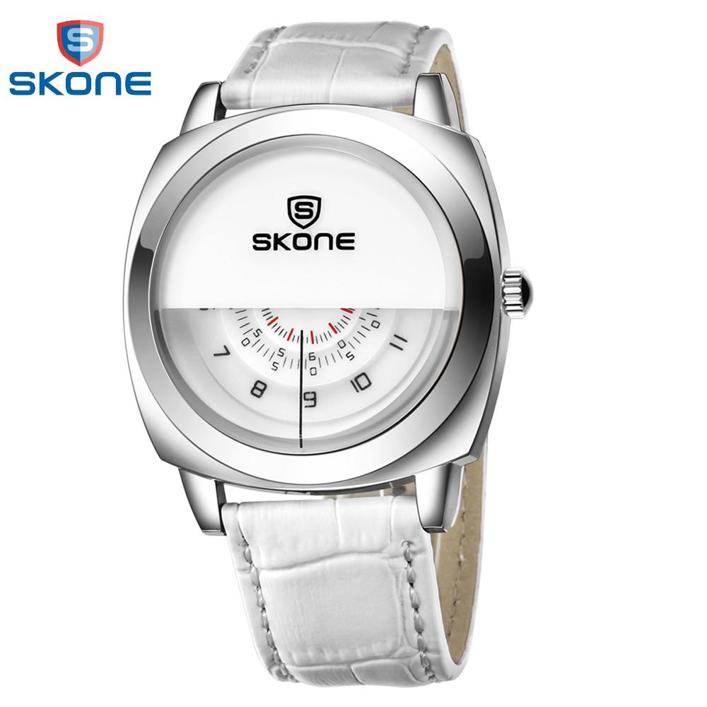 SKONE 2018 Fashion Quartz Men Watch Cool Three Dial One H/Min/S Watches PU Leather Strap Casual Wristwatch Hot Items Sale цена и фото