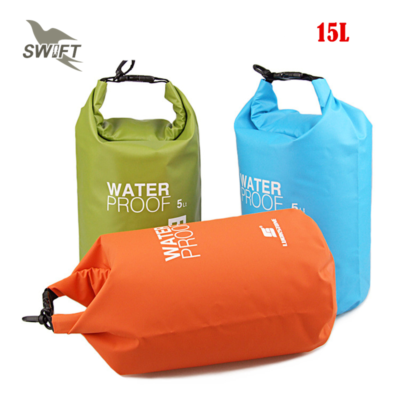 15L Ultralight PVC Waterproof Swimming Bag Beach Swimsuit Bikini Dry Bag  Snorkeling Diving Drifting Float Superdry Stuff Sack 519838c3f8ee6