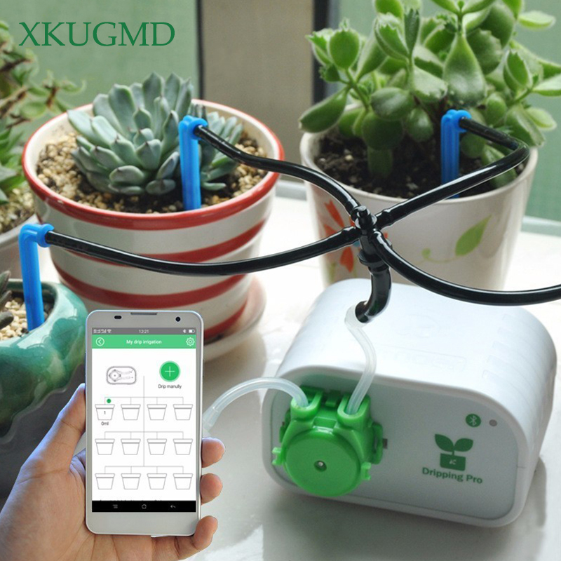 Mobile Phone Control Intelligent Garden Automatic Watering Flower Device Succulents Drip Irrigation Tool Water Pump Timer