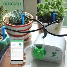 Controle do telefone móvel inteligente jardim rega automática flor dispositivo suculentas ferramenta de irrigação por gotejamento bomba água sistema temporizador