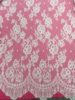 Eyelash Lace Fabric Flower Shaped White Lace Trim Excipients SYJ 8310