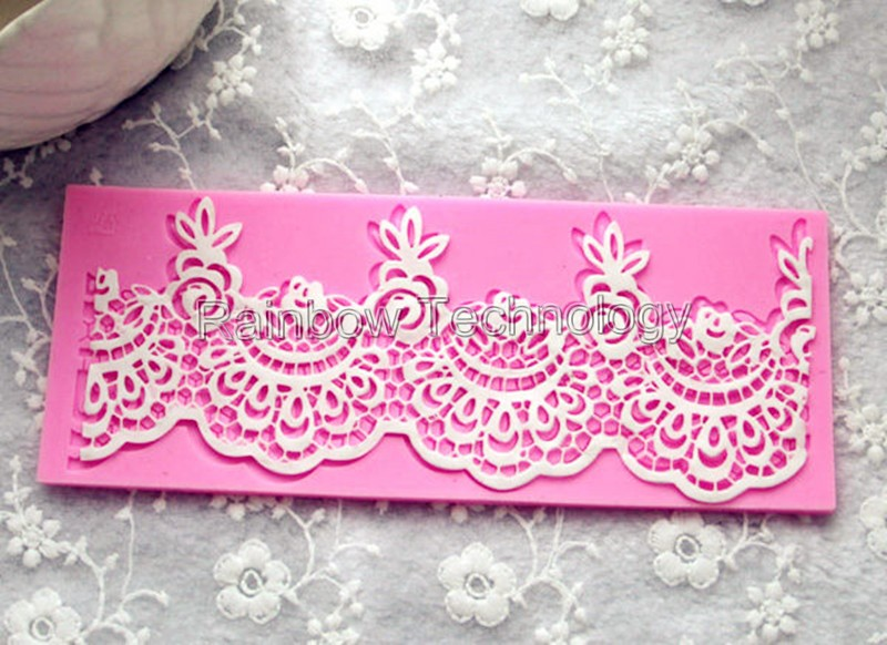 wedding cake lace molds classical flower lace silicone mold for cakes ploymer clay 23054