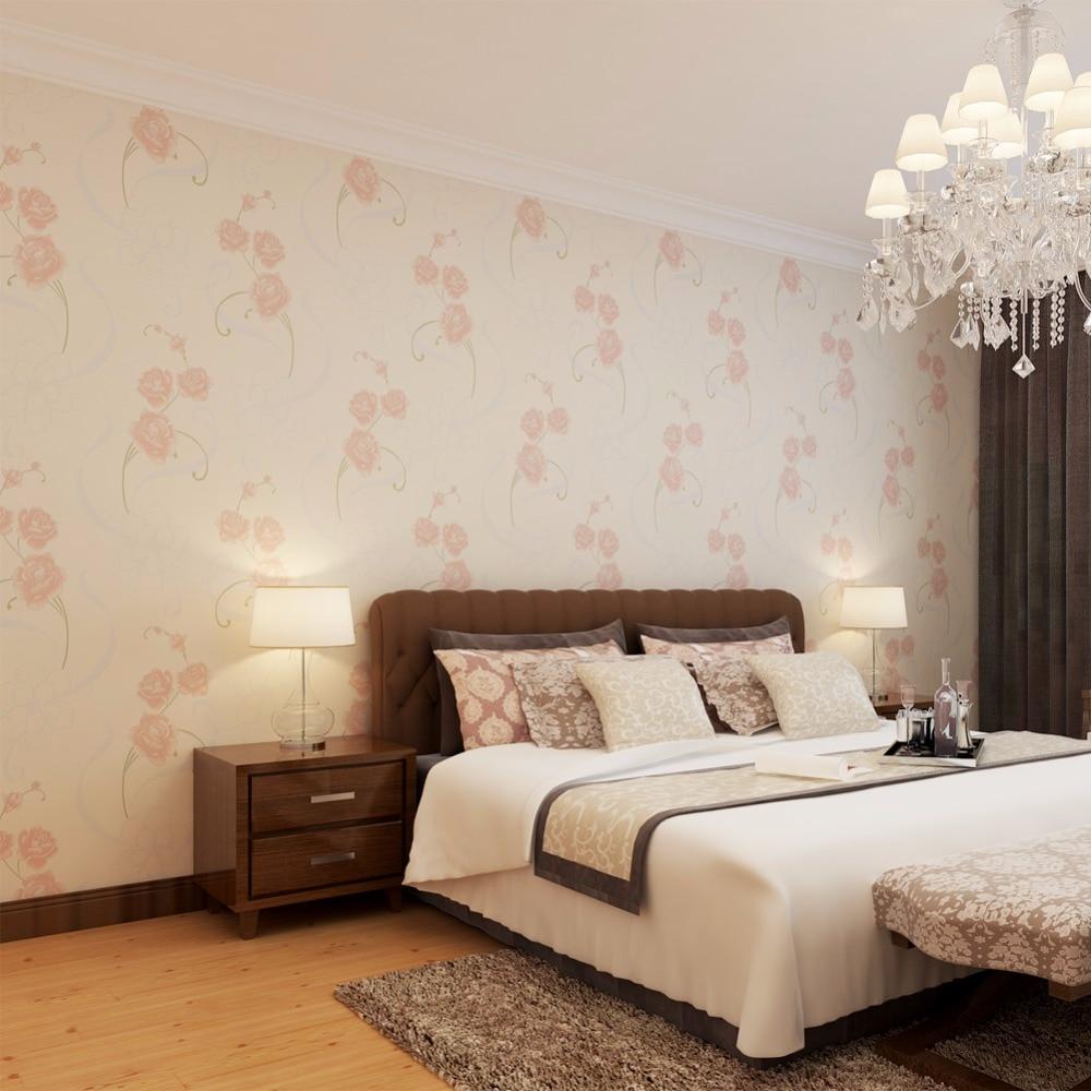Online kopen wholesale roze slaapkamer behang uit china roze ...