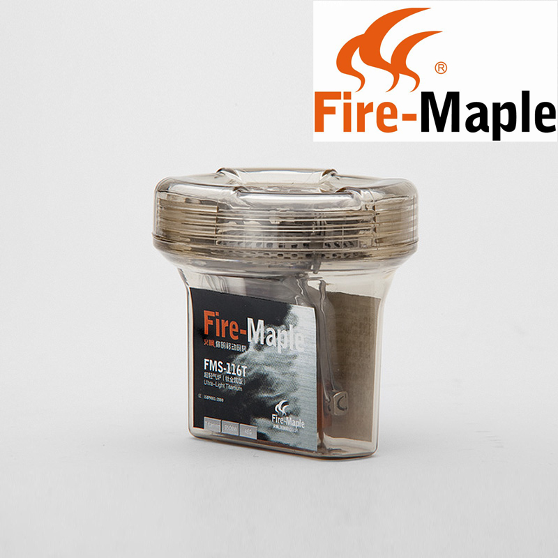 Fire Maple FMS 116T One Piece Folding Gas Stove Outdoor Climbing Ultralight Titanium Camping Stove Gas
