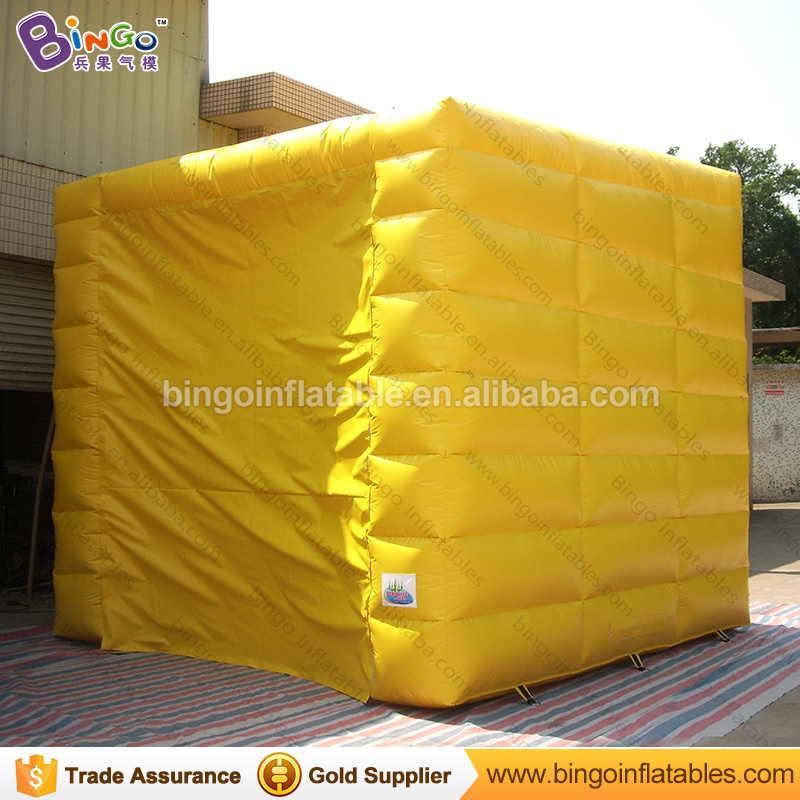 High quality PVC Tarpaulin inflatable cube tent with logo for sale customized 4X4X4 m inflatable kiosk tent for car parking