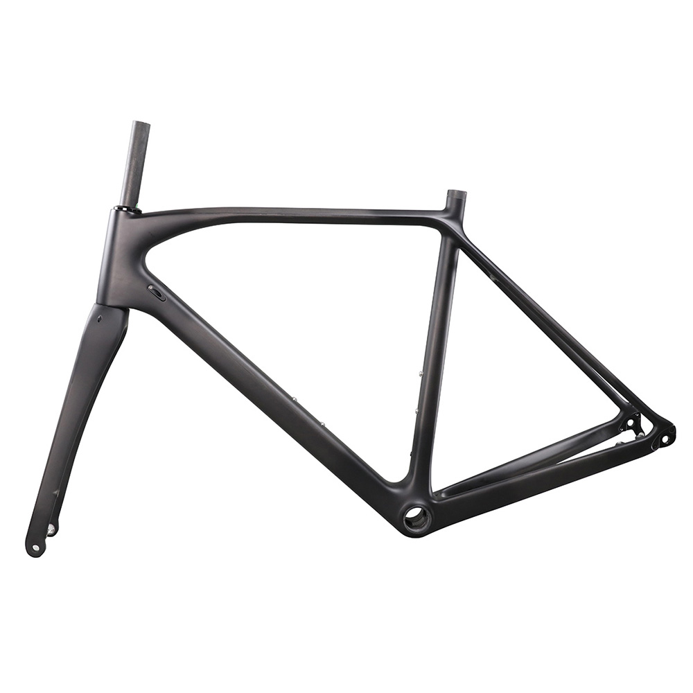 ICAN carbon flat mount disc brake frame cyclocross all internal cable route di2 carbon CX frameset 142*12 or 135*10mm rear space 2017 flat mount disc carbon road frames carbon frameset bb86 bsa frame thru axle front and rear dual purpose carbon frame