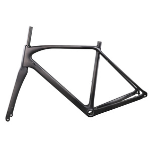 Image 3 - ICAN carbon flat mount disc brake frame cyclocross all internal cable route di2 carbon CX frameset 142*12 or 135*10mm rear space