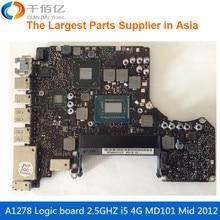 Материнская плата для ноутбука MacBook Pro A1278 материнскую плату 13′ MD101 4 г i5 2.5 ГГц 820-3115-A MID 2012