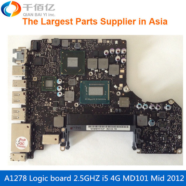 US $155 0 |Laptop Motherboard For MacBook Pro A1278 Logic Board 13' MD101  4G i5 2 5GHZ 820 3115 A Mid 2012-in Laptop LCD Screen from Computer &  Office