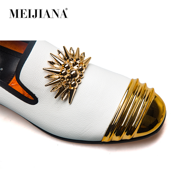 MEIJIANA Brand New Luxury Men  Loafer Patchwork Genuine Leather And Horsehair Round Toe Slip On Loafers Men Shoes 4