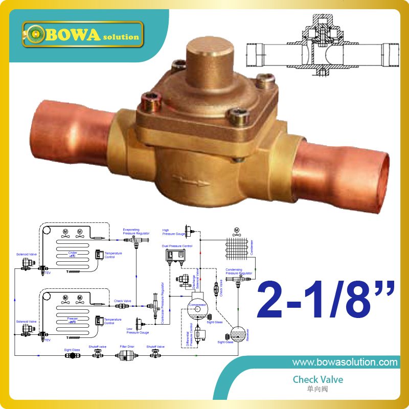 2-1/8 plunger One way Valve  with extend tube with horizontal axis and valve cover facing upward replace Parker Check Valve хайлайтер jeffree star skin frost™ deep freeze цвет deep freeze variant hex name 94d4e8