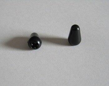 10pcs ST Pickup Switch Tip Knob Black USA Size Caps for American