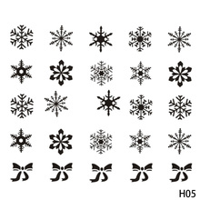 1 Sheet Halloween Christmas Snowflake Nail Sticker Mixed Decals Nail Art Water Transfer Stickers Full Wraps DIY Nail Tips
