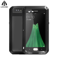 LOVE MEI Aluminum Metal Case For OPPO R11 For OPPO R11 Plus Cover Powerful Armor Shockproof