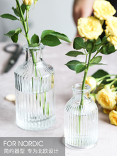 بسيطة الحديثة الزجاج الشفاف الصغيرة المزهريات Ins طاولة صغيرة زهرة زهرية Floreros دي ديكورات المنزل الحرفية الجرار