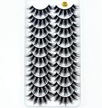 Pestañas postizas suaves de visón 3D, 10 pares, multicolor, hechas a mano, largas y esponjosas, utensilios de maquillaje para ojos naturales, pestañas postizas