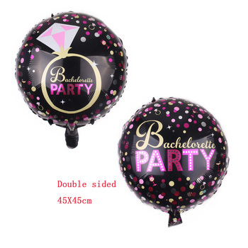 1pcs 45X45cm bachelor party Balloon Decoration Bride to Be party Bachelorette Party Balloons Bridal Shower Decoration Hen Party image