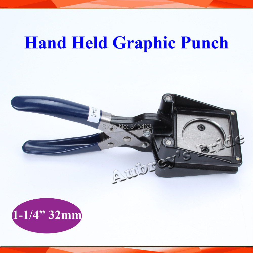 NEW Hand Held Manual Round 1 1 4inch 32mm Actual Cutting 44MM Paper Graphic Punch Die